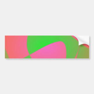 Green Cracks Car Bumper Sticker