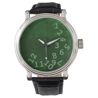 green crazy time hours wristwatch
