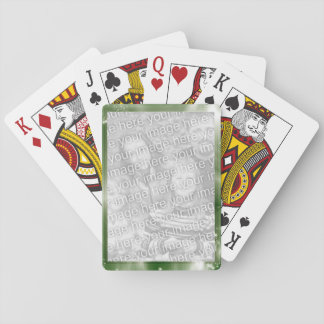 Green Create Your Own Personalized Photo Frame Playing Cards