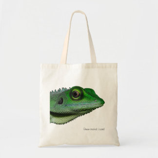 Green-crested Lizard Tote Bag