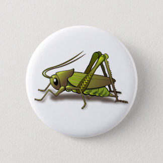 Green Cricket Insect 6 Cm Round Badge