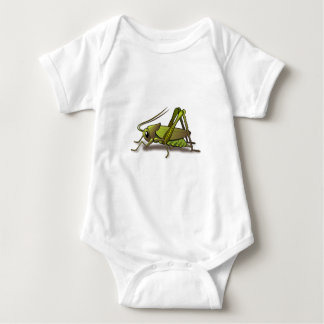 Green Cricket Insect Baby Bodysuit