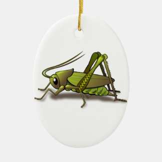 Green Cricket Insect Christmas Ornament