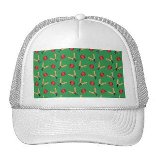 green cricket pattern mesh hat