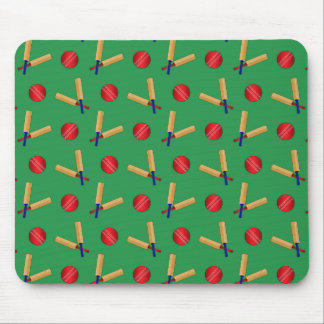 green cricket pattern mouse mat