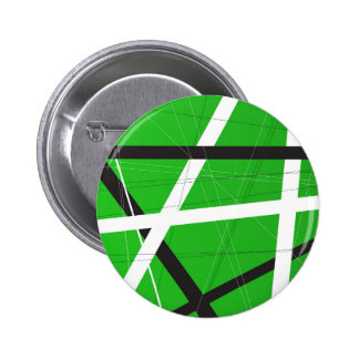 Green Criss Cross Background 6 Cm Round Badge