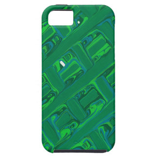 Green Crisscross iPhone 5 Case