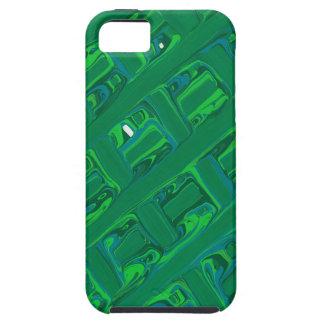 Green Crisscross iPhone 5 Case