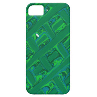 Green Crisscross iPhone 5 Cases