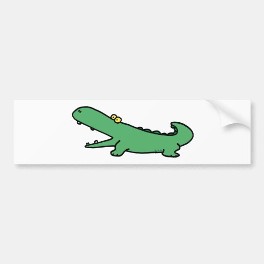 Green crocodile bumper sticker