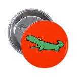 Green crocodile button