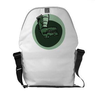 green crocodile courier bags
