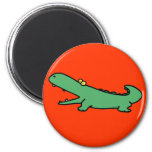 Green crocodile fridge magnets