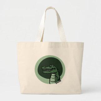 green crocodile jumbo tote bag
