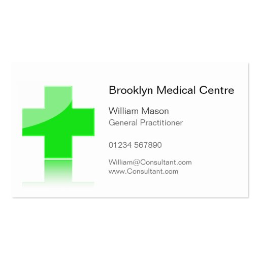 Green Cross Healthcare Medical Center - Bus Card Business Card Template