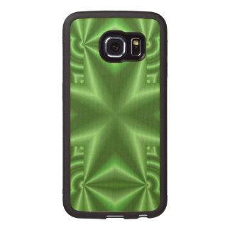 Green Cross Wood Phone Case