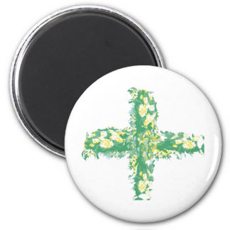 Green Crucification -  Save the Green 6 Cm Round Magnet