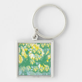 Green Crucification -  Save the Green Silver-Colored Square Key Ring