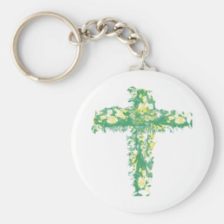 Green Crucification -  Save the Green Basic Round Button Key Ring