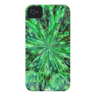Green Crystal Abstract Case-Mate iPhone 4 Case