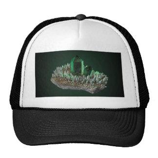 Green crystal cap