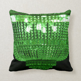 Green crystal chandelier cushion