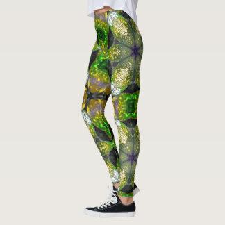 Green Crystal Geometric Leggings