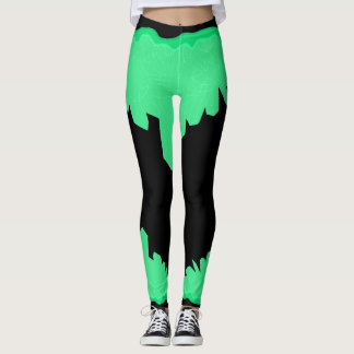 green crystal legging