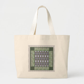 Green Crystal Stone ART Jewel Gifts Checks NVN694 Bag