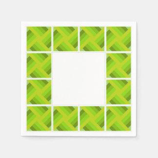green cuadritos paper napkin