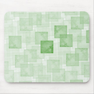 Green Cubes Mouse Pad
