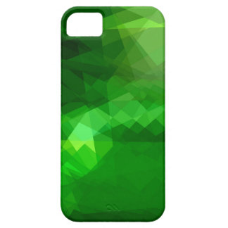 Green cubism abstract art iPhone 5 cover