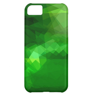Green cubism abstract art cover for iPhone 5C