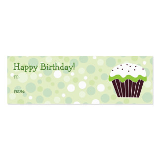 Green Cupcake Gift Tag Business Cards