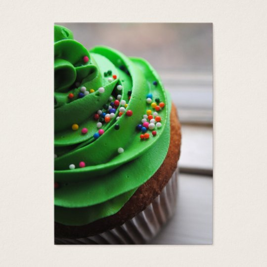 Green Cupcake Photograph Business Cards