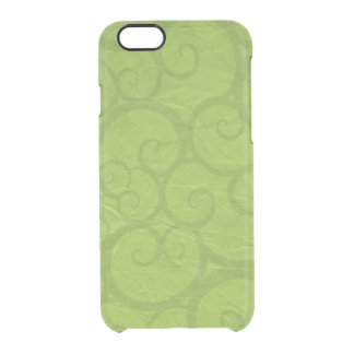 Green curls lines clear iPhone 6/6S case