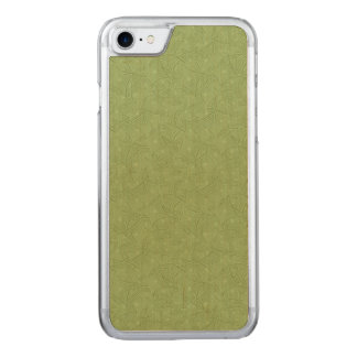 Green curved shape pattern carved iPhone 8/7 case