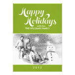 Green Custom Holiday Cards Announcement
