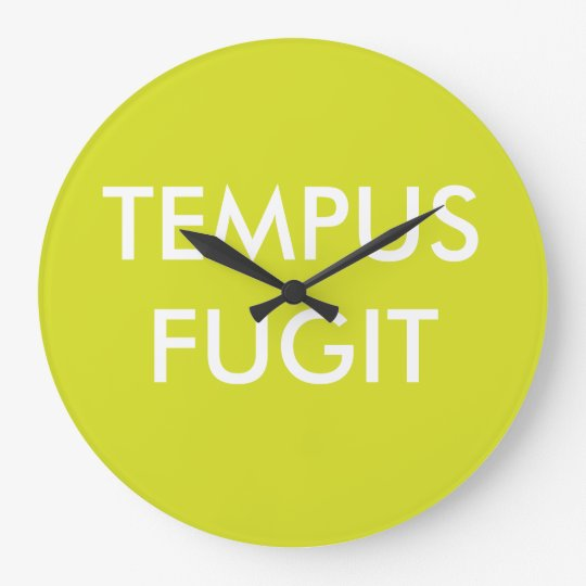 Green Custom Text Latin Phrases Tempus Fugit Large