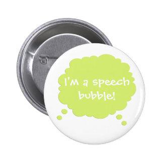 Green Customizable Speak Speech Bubble Button