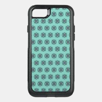 Green cyan flowers pattern OtterBox commuter iPhone 8/7 case
