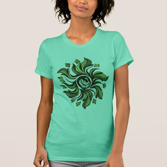 Green Cyclone - Abstract T-Shirt