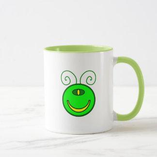 Green Cyclops Monster Face