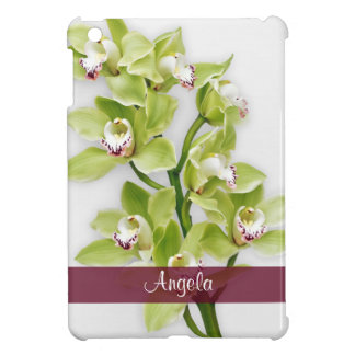 Green Cymbidium Orchid Floral Personalized iPad Mini Case