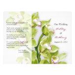 Green Cymbidium Orchid Floral Wedding Program