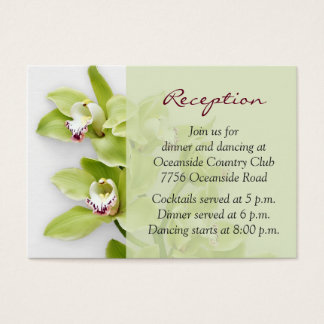 Green Cymbidium Orchid Wedding Reception Insert