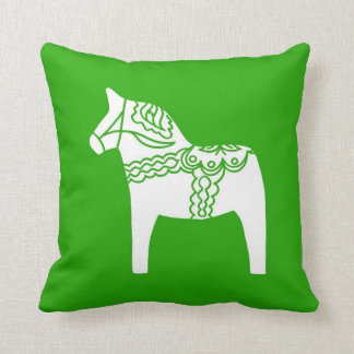 Green Dala Horse Cushion