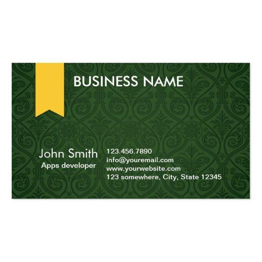 Green Damask Apps developer Business Card