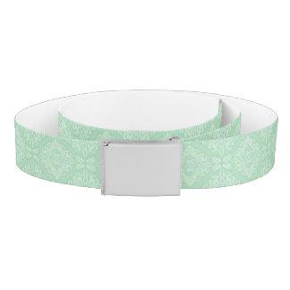 Green damask pattern belt