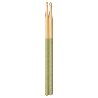 Green damask pattern drumsticks